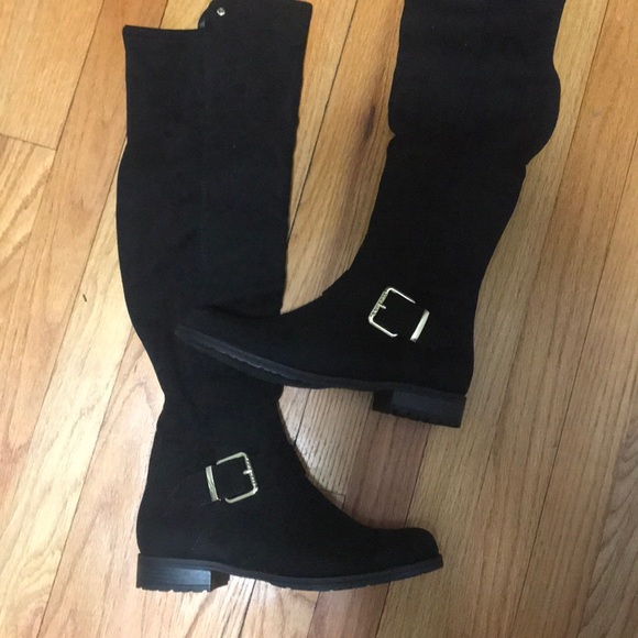 b9081fe1081 NEW Black GUESS Cory Boots, 7.5 NWT